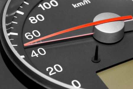 Tachometer  passenger car, showing speed 50 km h