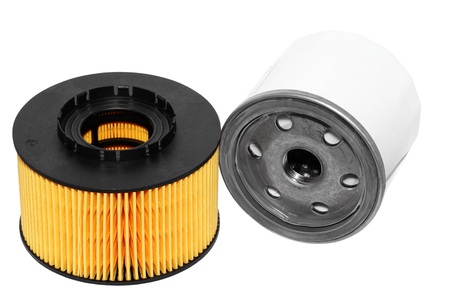 technic: Automobile oil filters Stock Photo