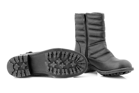 Messy womens boots for winter time  photo