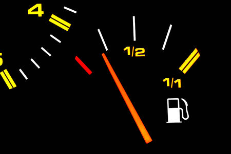 electronically: Automotive fuel gauge in the tank