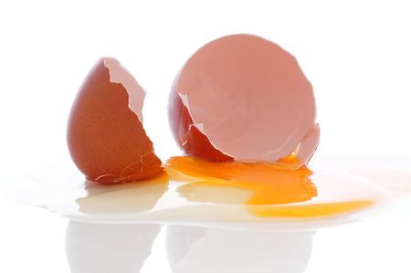 Broken hen egg.