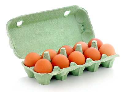 albumen: Eggs in the package., Stock Photo