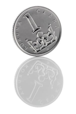 capitalization: Coin Czech Republic (Czech crown). Stock Photo