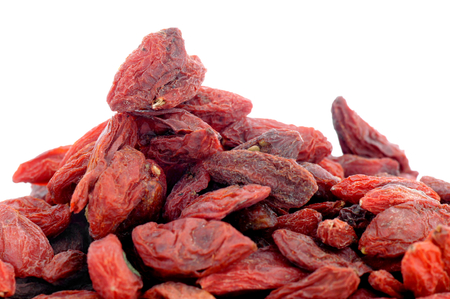 lycium: Close-up of Goji berries (lycium chinese).