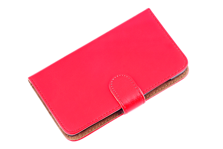 flip phone: Leather case for mobile phone -tablet.