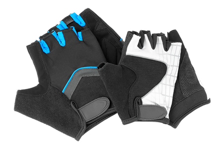 expedient: Mens and womens gloves isolated on white background. Stock Photo