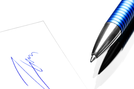 acknowledged: Ballpoint pen and a handwritten signature.