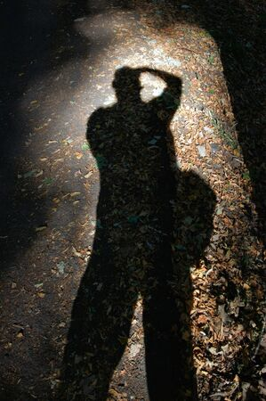 abstractly: Shadow of the photographer.