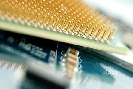 processor: Computer processor. Stock Photo