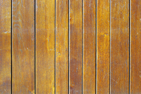 unprotected: The surface of old painted wooden planks.