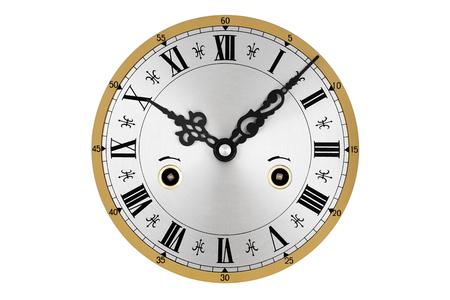 numeros romanos: reloj elástico con números romanos aislados sobre fondo blanco.