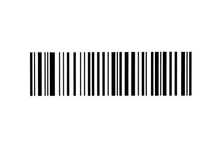 stocktaking: Barcode isolated on white background.