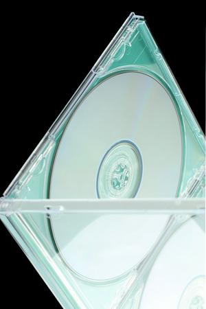electronically: DVD-CD rack. Stock Photo