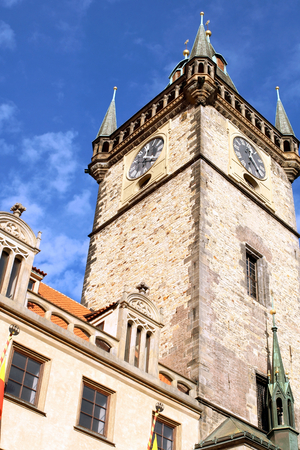 Astronomical Clock Tower in Prague, Czech Republic.