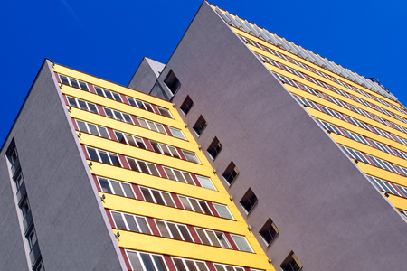 High-rise building in bright weather.