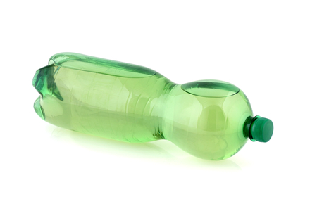 Plastic bottle with drinking water.