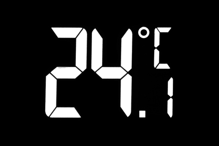 The air temperature on the display-24.1 degrees Celsius