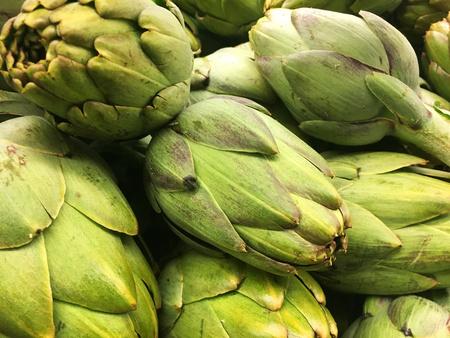 artichoke artichokes vegetables cooking healthy Stock Photo