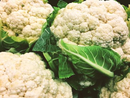cauliflower ecologic food market cuisine Banque d'images