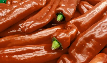 red peppers closeup photo