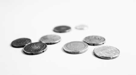 coins on the table