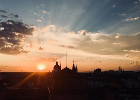 city ??skyline sunset