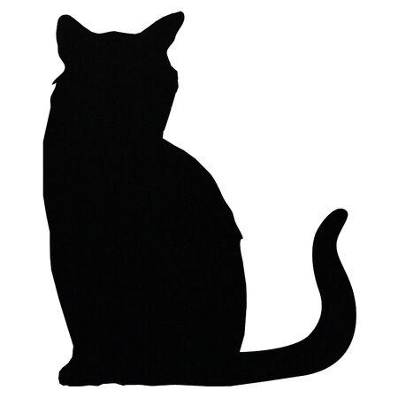 black cat silouhette