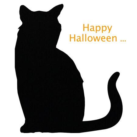 glückliche halloween katze Standard-Bild