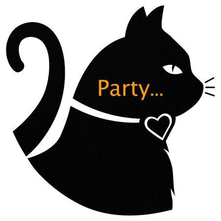 Schwarze Katzenparty Standard-Bild