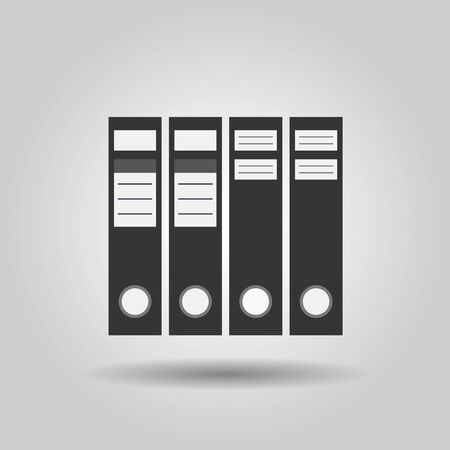 Office file folders icon in a row Vector