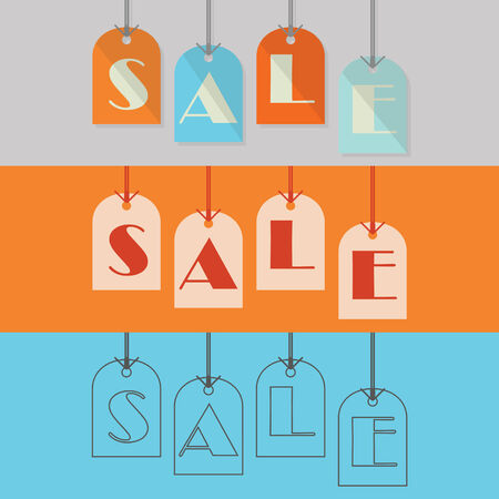 Abstract SALE hanging tags in different styles Vector