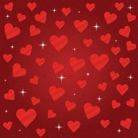 shiny: Shiny red hearts and sparkles