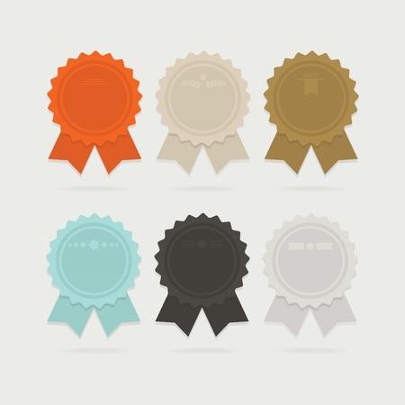 star award: Abstract empty ribbon award bows set with shadows Illustration