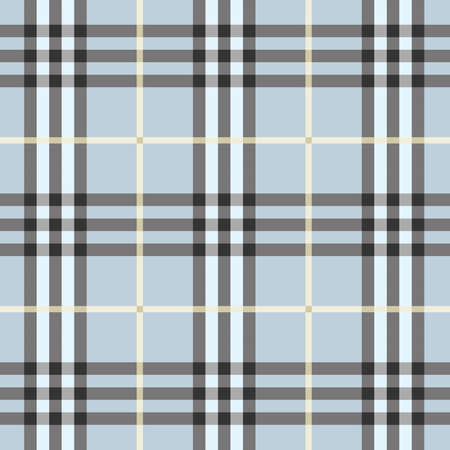 Seamless modern and trendy light blue plaid pattern
