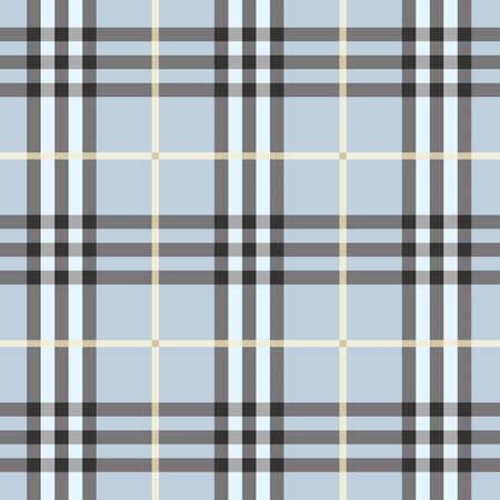 trendy: Seamless modern and trendy light blue plaid pattern