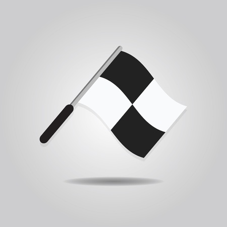 enforcing: Abstract assistant referee wavy flag icon on gray gradient background