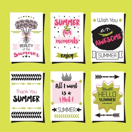Summer greetings template journaling cards set