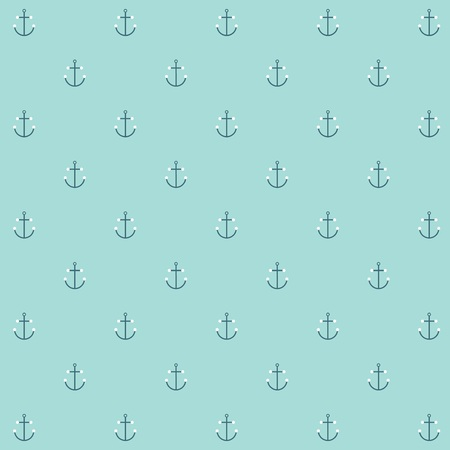 naval: Cute simple and minimal naval anchor icon seamless pattern