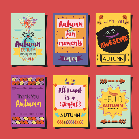 Autumn greetings template journaling cards set