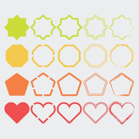 dash: Colorful shape icons in different colors and designs set - Set 2