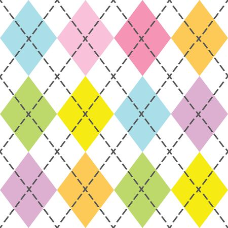 Colorful modern and trendy argyle seamless pattern 일러스트