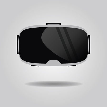 Abstract virtual reality glasses icon on gray gradient background 일러스트