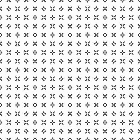 Black dense flower and rhombus dots pattern. 일러스트