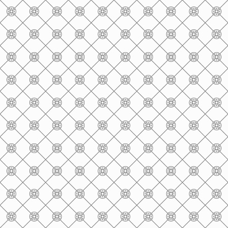 Black trendy Italian luxary fashion and stylish line and circle emblem pattern on white background