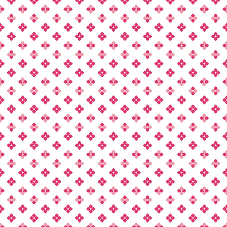 Color pink dense cute little flower dots pattern on white background