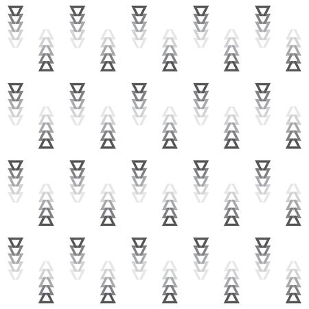 Tribal disparu couleurs grises coupe triangle flèches icônes modèle sur fond blanc Vecteurs