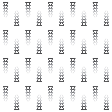 Tribal faded away gray colors cut triangle arrows icons pattern on white background