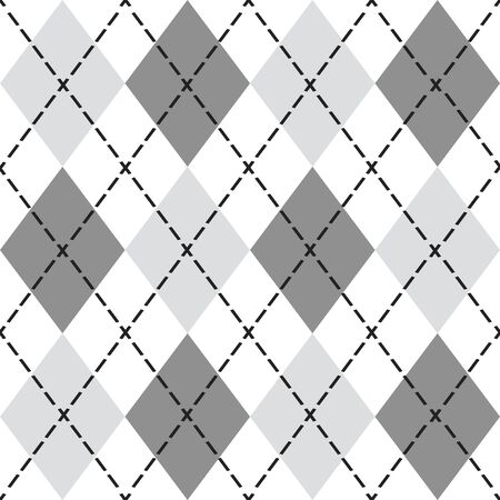 Black and gray trendy argyle seamless pattern - Modern design element background in black and white Archivio Fotografico - 127924492