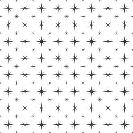 Black abstract sharp and pointy shining stars pattern design elements on white background