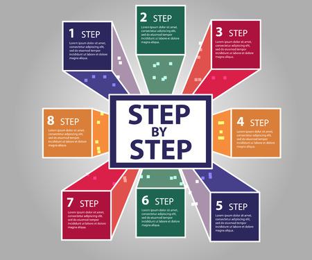 Modern business steps to success  options banner. Vector illustration modern design template Vector